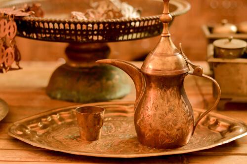 water-in-copper-vessel