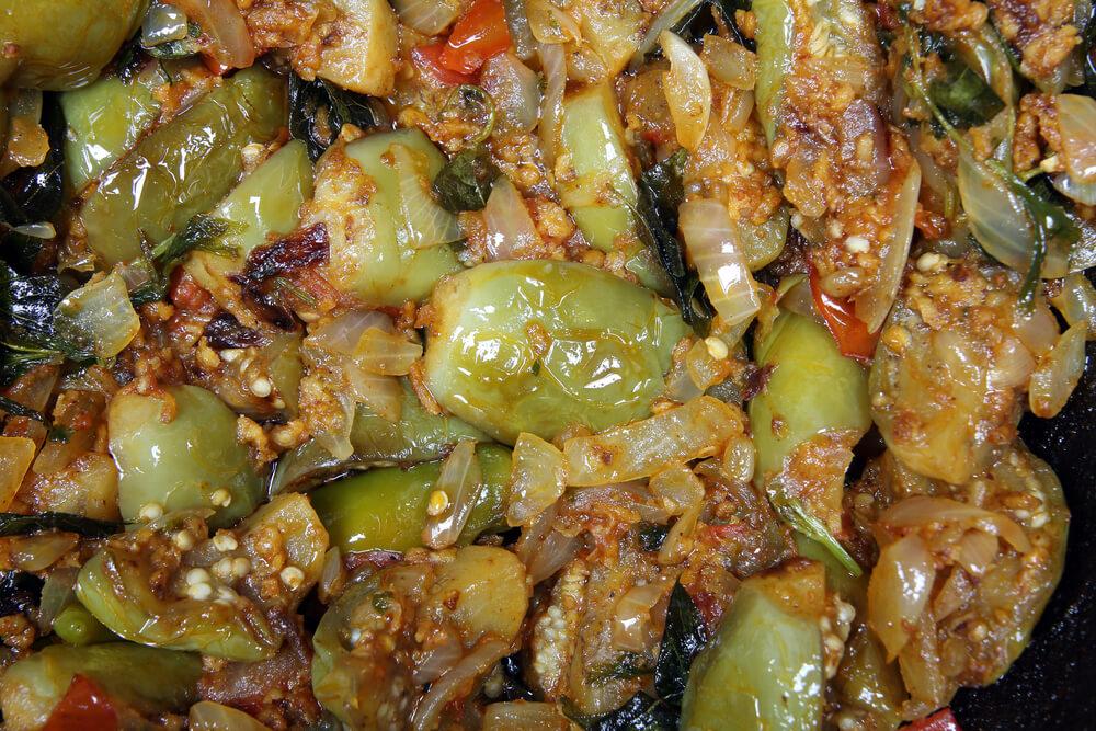 Eggplant Poriyal