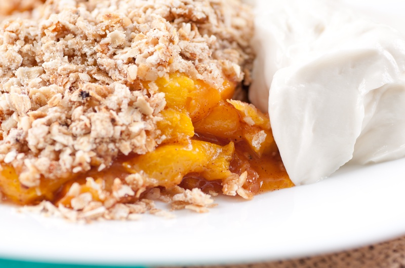 Peach Cobbler Oatmeal