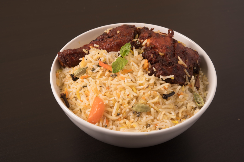 Chicken Biryani with Brown Rice