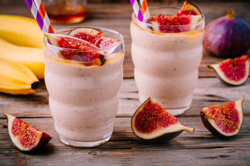 Fig Banana Milkshake