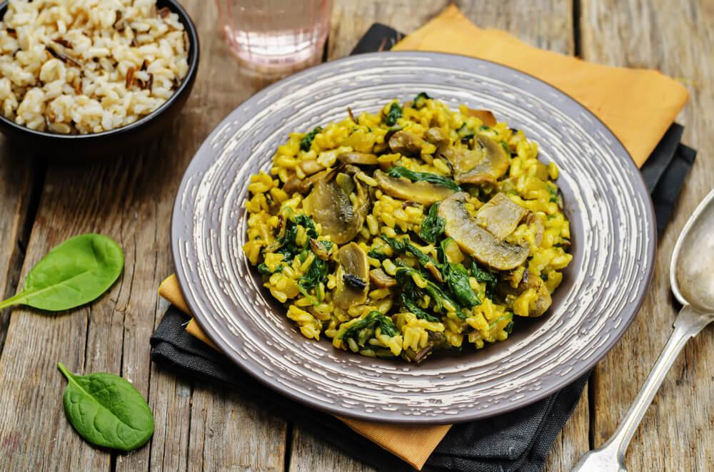Mushroom & Spinach Biryani