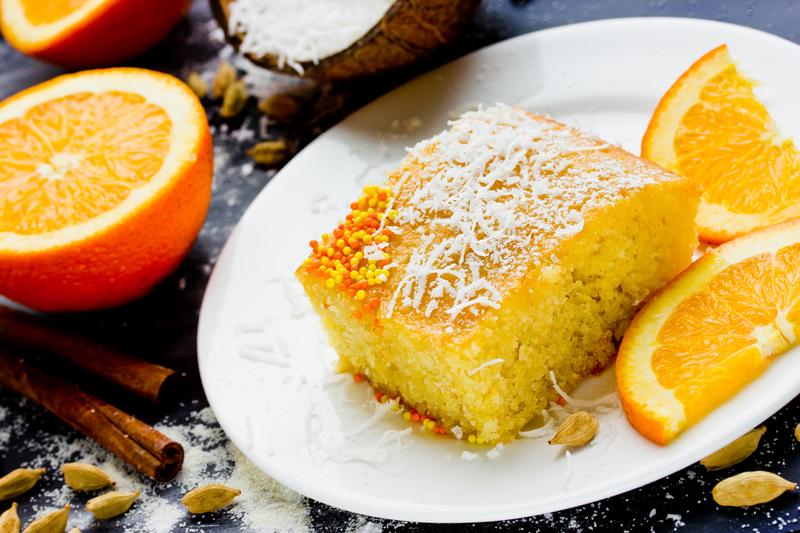 Semolina Cardamom Cake