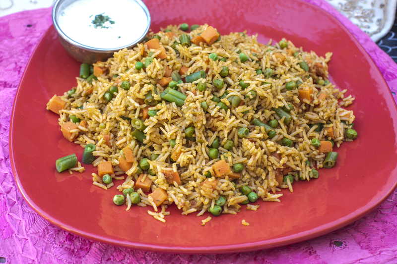 Vegetable Kacchi Biryani
