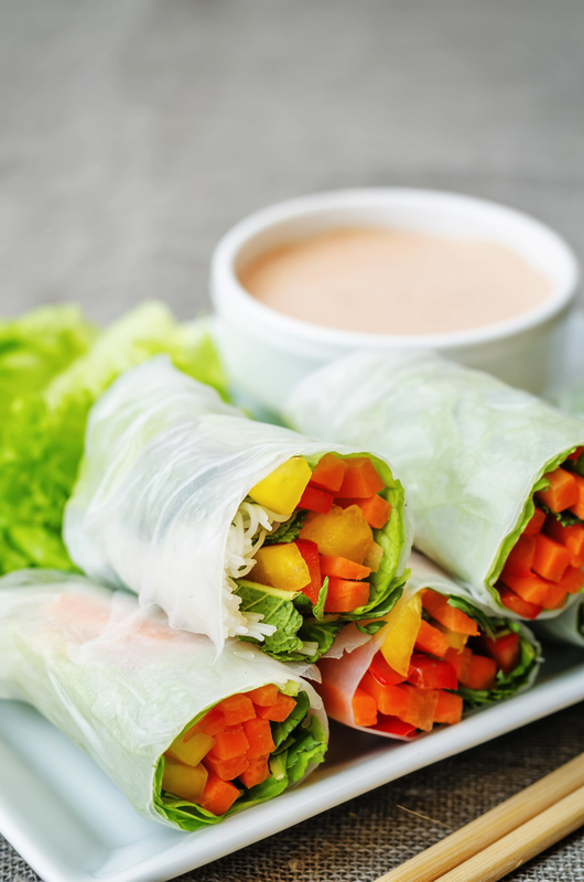 mixed spring rolls