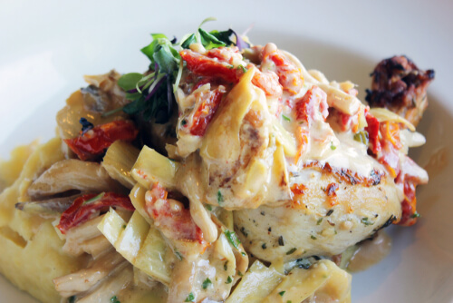 Chicken with Artichokes and Tomatoes