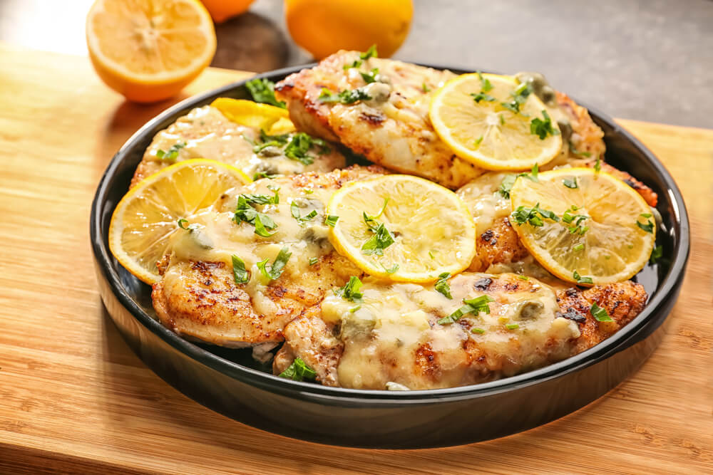 Citrusy Lemon Chicken Piccata