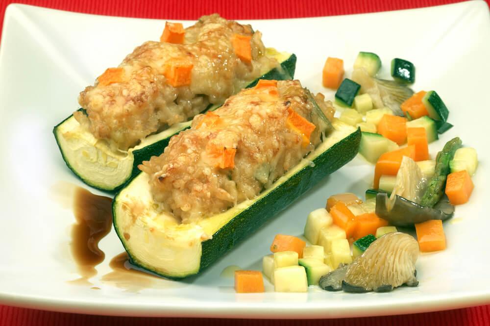 Ricotta Stuffed Zucchini