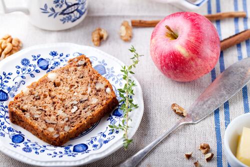 Cake Aux Marrons, Aux Noix Et Aux Pommes