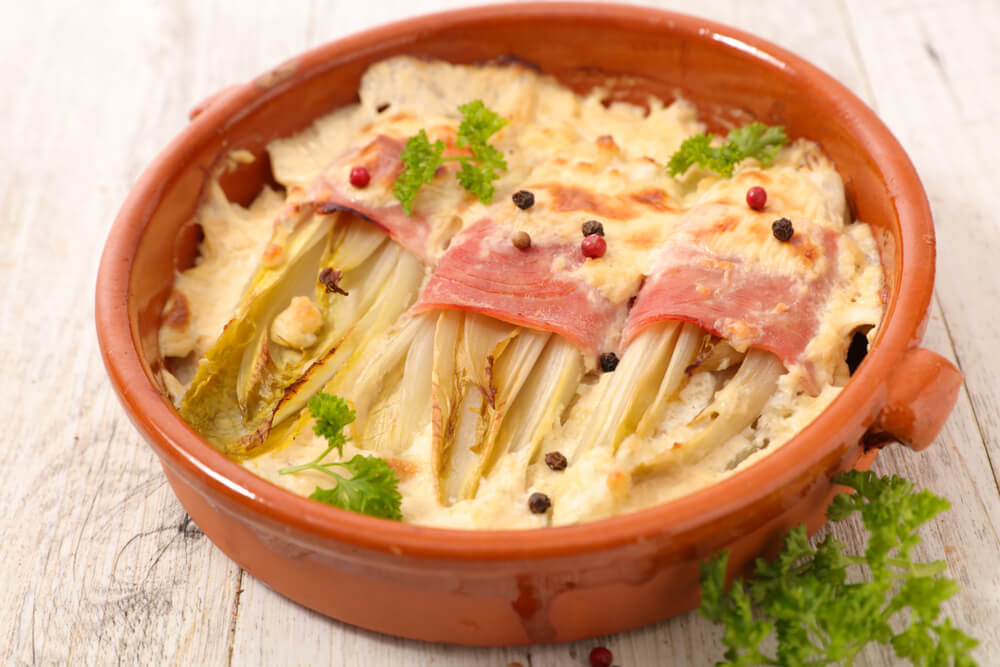 Endives and Ham Gratin