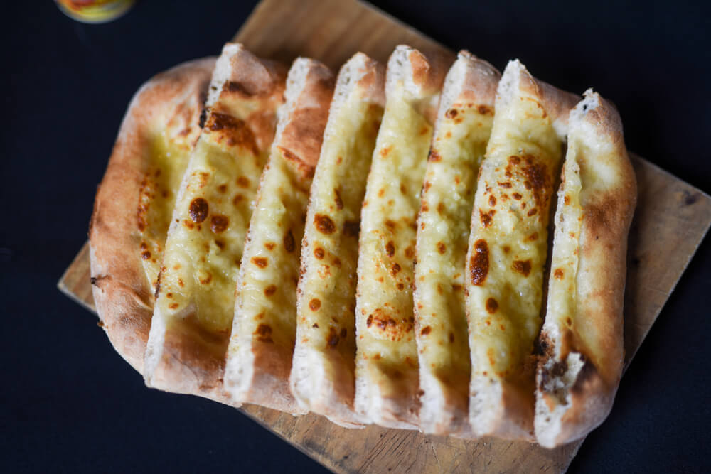 Garlic Cheese Flatbread