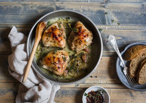 Garlic Wine Chicken