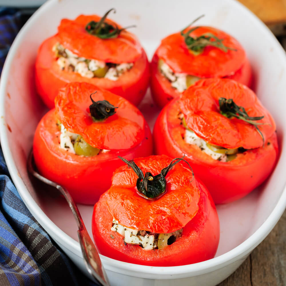 Goat Cheese Stuffed Tomatoes