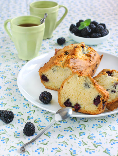 Norman Blackberry Loaf Cake