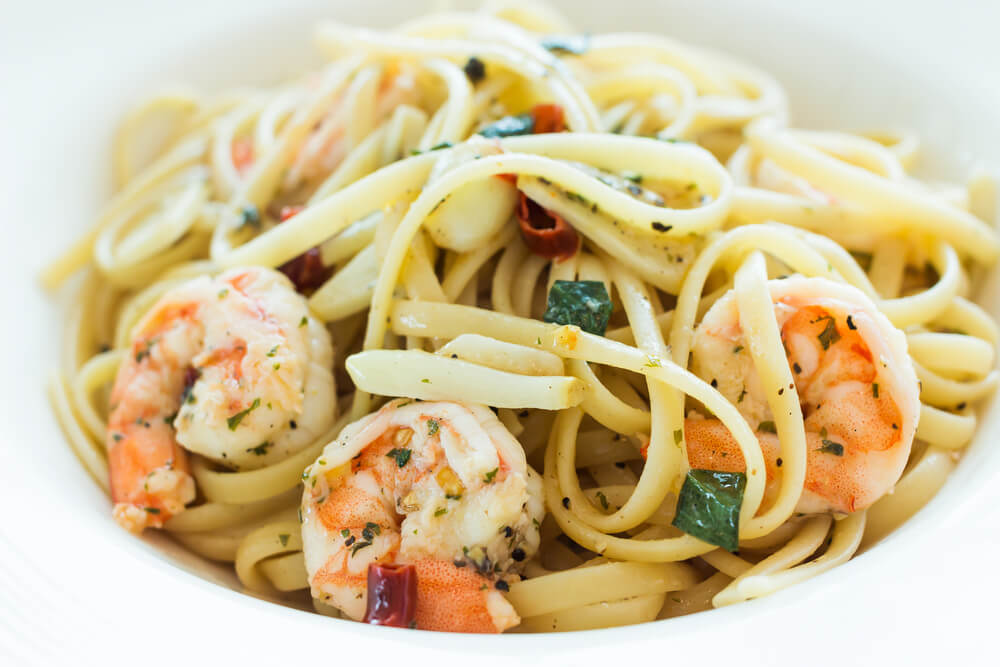 Shrimp Scampi with Linguini Pasta