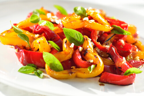 Versatile Marinated Peppers