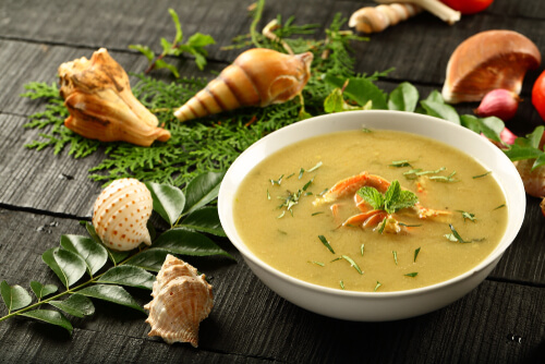 Asparagus And Crab Meat Soup