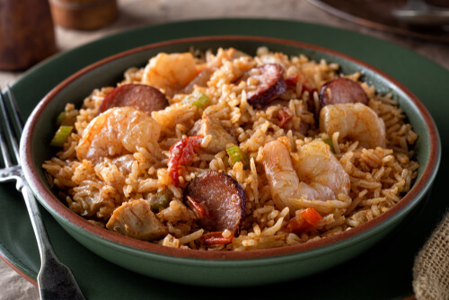 Prawn and Chicken Jambalaya