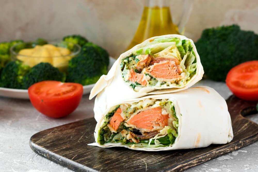 Sixer Salmon Wrap
