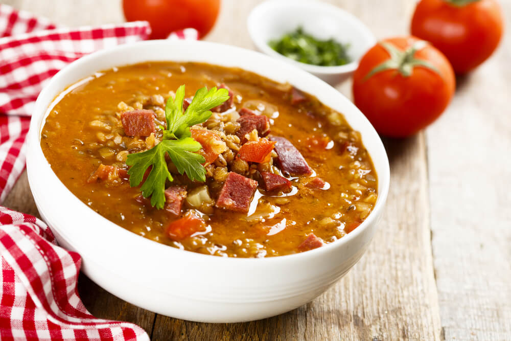 Beefy Lentil Vegetable Soup