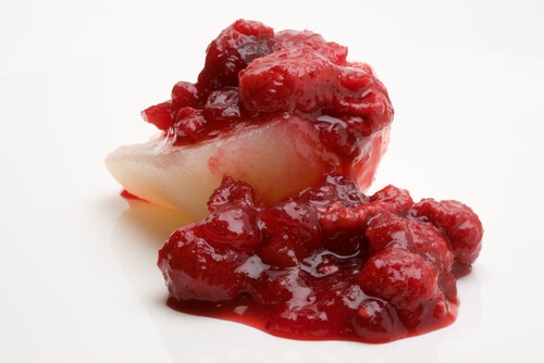 Blushing Cranberry Pears