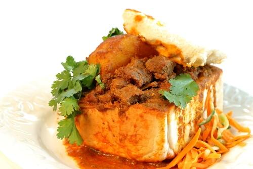 Go Goa-Mutton Vindaloo Bunny Chow
