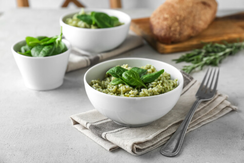 Green Risotto with Fava Beans recipe