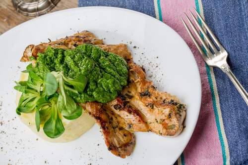 Italian Chicken with Pesto Potatoes recipe
