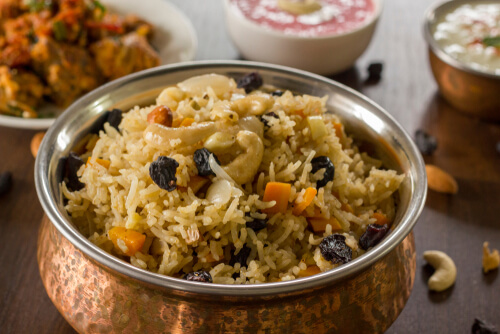 Kashmiri Pulao with Fruits