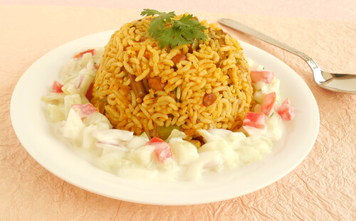 One pot Brinjal Rice Recipe