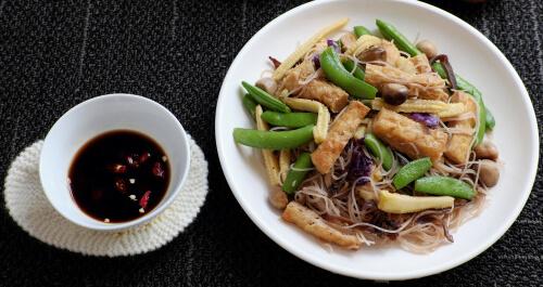 Tofu Mushroom and Beans