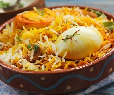 Hyderabadi Egg Dum Biryani