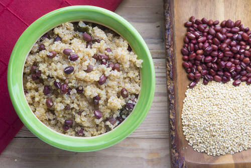 Middle Eastern Rice with Black Beans and Chickpeas