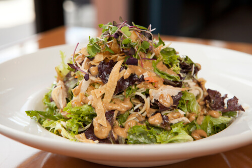 Chicken Salad With Thai Flavored Dressing