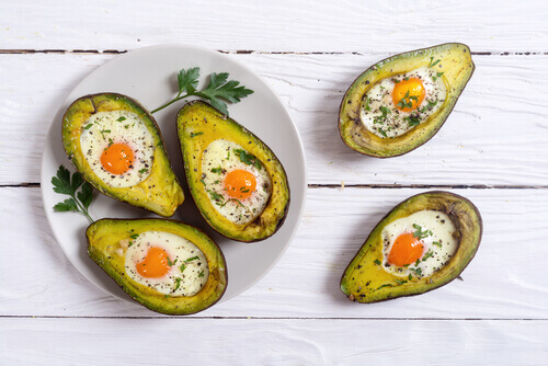 Avocado Boat Egg Bake