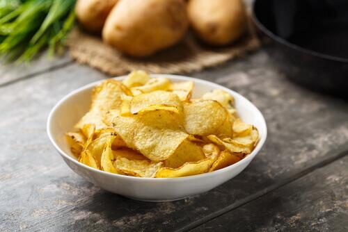 Sesame Potato Chips