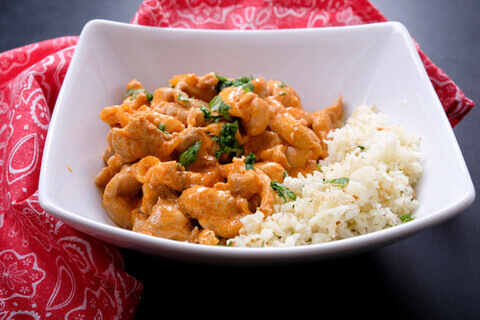 Creamy Butter Chicken with Cauliflower Rice
