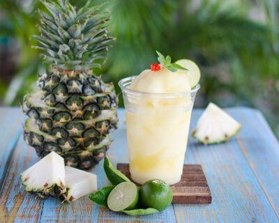 Pineapple Mint Coconut Water Frappe