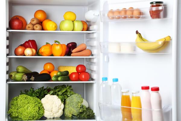 fruits in fridge