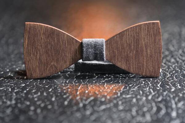 wooden bowtie