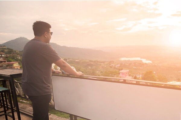 go watch sunset from you balcony